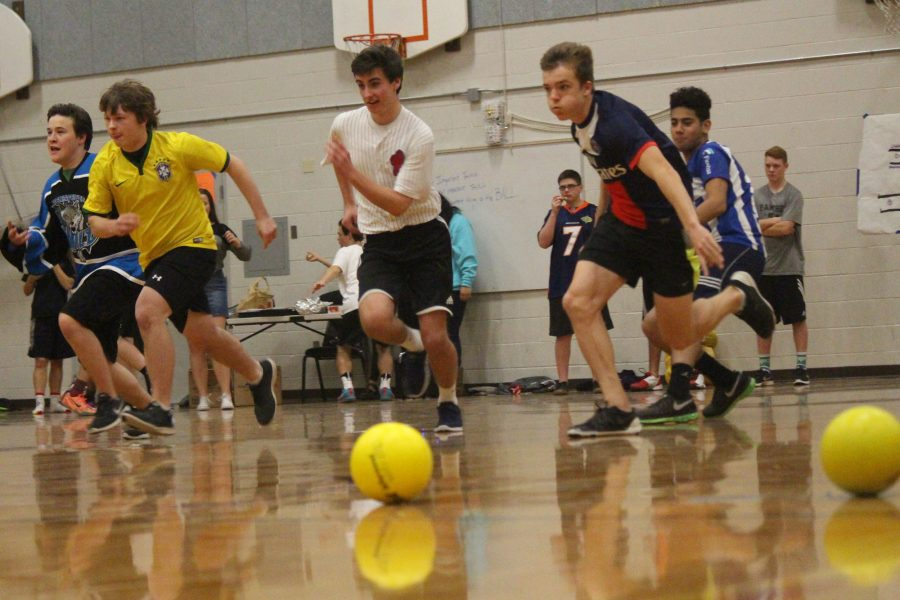 Teams collide in dodgeball tournament