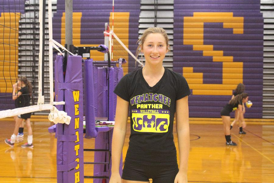 Senior and volleyball co-captain Lauren Kaech. Anna Crail is not pictured.