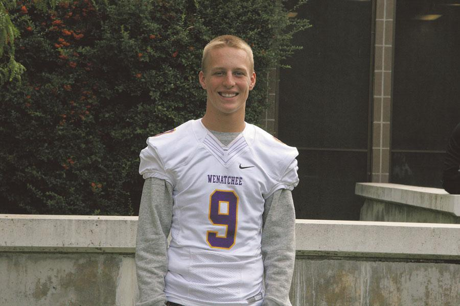 Sophomore Rowan Parmenter came to Wenatchee High School this year and is a quarterback for the Panther football team.