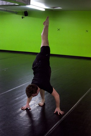 Junior Tony Smith rehearses at the Dance Creations studio earlier this week.