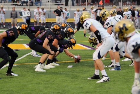 Wenatchee High School varsity football team takes on Mead High School in the first game of the season
