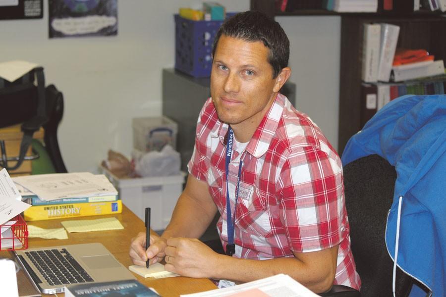 Social studies teacher Scott Tiedman