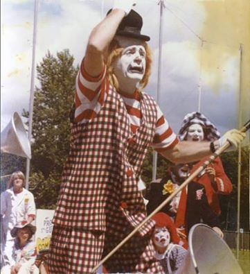 Wenatchee Youth Circus founder Paul Pugh, a.k.a Guppo the Clown. Photo credit: Wenatchee Youth Circus